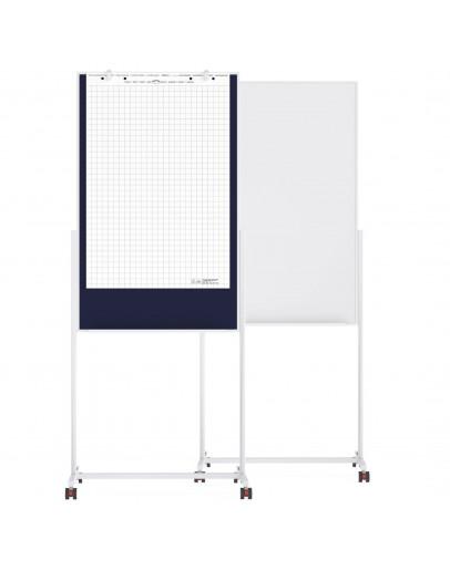 Доска 3-в-1 750x1200 Magnetoplan Universal-Board Felt-Blue Mobile (11112103)