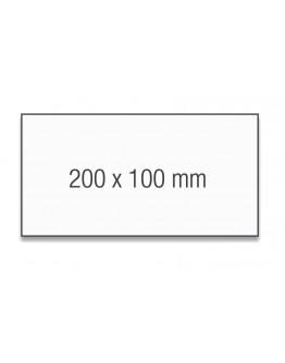 Карточки модерации прямоугольные 200x100 белые Magnetoplan Rectangle White Set (111151500)
