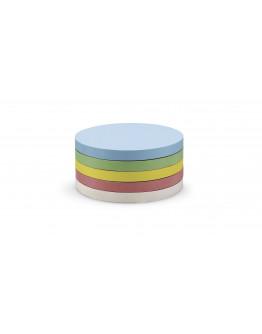 Карточки-самоклейки круглые 95 разноцветные Magnetoplan Round Assorted Set (111151690)