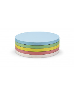 Карточки-самоклейки круглые 140 разноцветные Magnetoplan Round Assorted Set (111151790)