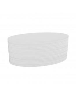 Карточки модерации овальные 190x110 белые Magnetoplan Oval White Set (111151900)