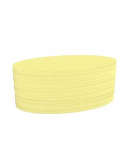 Карточки модерации овальные 190x110 желтые Magnetoplan Oval Yellow Set (111151902)