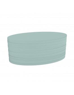 Карточки модерации овальные 190x110 бледно-синие Magnetoplan Oval Blue Set (111151903)