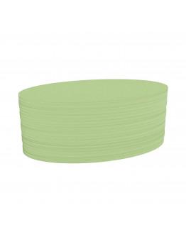 Карточки модерации овальные 190x110 зеленые Magnetoplan Oval Green Set (111151905)