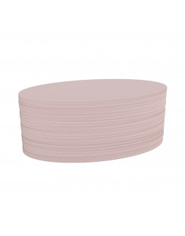 Карточки модерации овальные 190x110 бледно-розовые Magnetoplan Oval Pink Set (111151918)