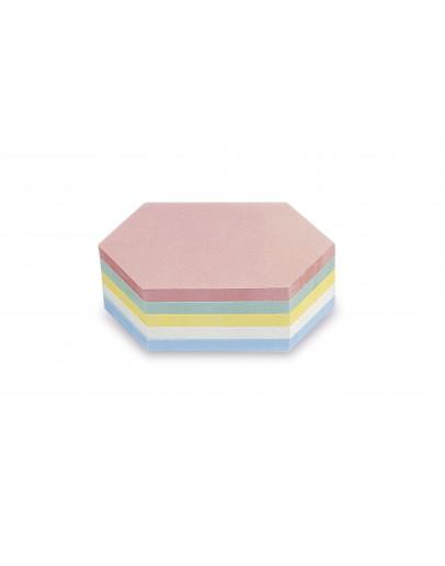 Карточки модерации гексагональные 200x95 разноцветные Magnetoplan Rhombus Assorted Set (111152210)