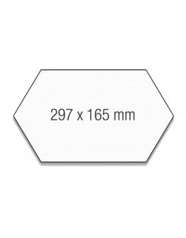 Карточки модерации гексагональные 297x165 Magnetoplan Kingsize Comb Assorted Set (111152410)