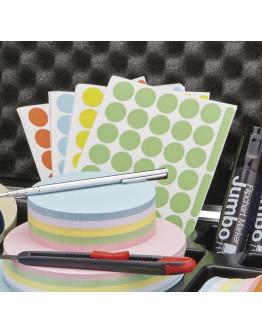 Точки-стикеры разноцветные Magnetoplan Adhesive Round Points Assorted Set (1111526)