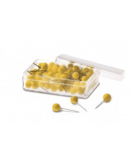 Булавки-бусины 19 желтые Magnetoplan Pins Ball Yellow Set (111165002)