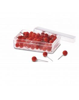 Булавки-бусины 19 красные Magnetoplan Pins Ball Red Set (111165006)