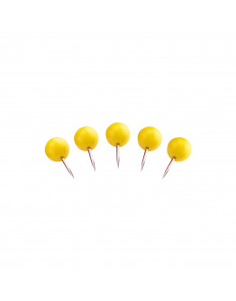 Булавки-бусины 17 желтые Magnetoplan Pins Ball Yellow Set (111165102)