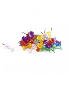 Булавки-гвоздики прозрачные 23 разноцветные Magnetoplan Pins Memo-holder Assorted Set (111165350)