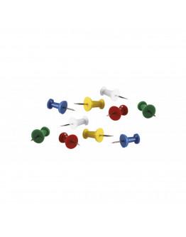 Булавки-гвоздики 23 разноцветные Magnetoplan Pins Memo-holder Assorted Set (111165410)