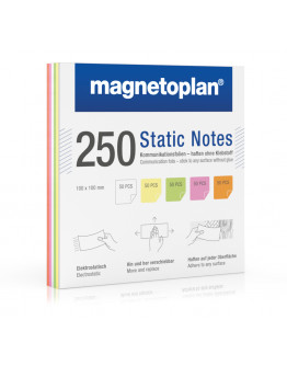 Карточки маркерные полимерные квадратные 100x100 Magnetoplan Static Notes Assorted Set (11250110)