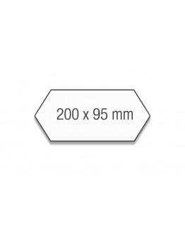 Карточки модерации гексагональные 200x95 Magnetoplan Rhombus Assorted Set (112502210)
