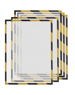 Рамки сигнальные магнитные A3 Magnetofix Frame SAFETY Yellow/Black Set (1131342)