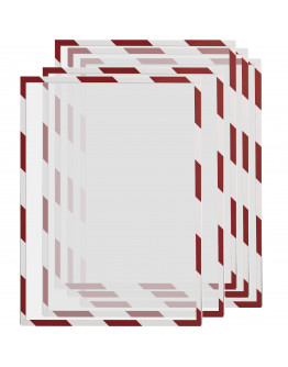 Рамки сигнальные магнитные A3 Magnetofix Frame SAFETY Red/White Set (1131346)