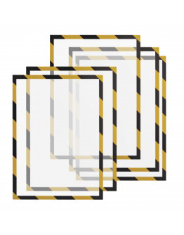 Рамки сигнальные магнитные A4 Magnetofix Frame SAFETY Yellow/Black Set (1131442)