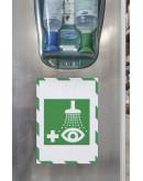 Рамки сигнальные магнитные A4 Magnetofix Frame SAFETY Green/White Set (1131445)