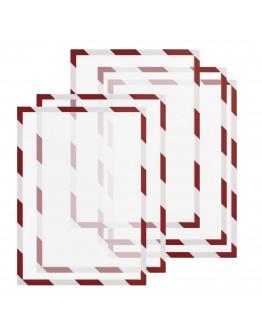 Рамки сигнальные магнитные A4 красно-белые Magnetofix Frame SAFETY Red/White Set (1131446)