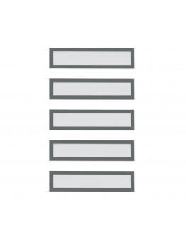 Рамки заголовков магнитные A5/A4 серые Magnetofix Frame TOPSIGN Gray Set (1131701)
