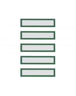 Рамки заголовков магнитные A5/A4 зеленые Magnetofix Frame TOPSIGN Green Set (1131705)
