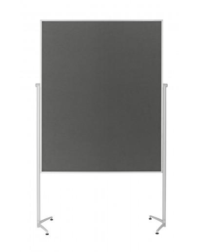 Доска модерационная мобильная 1200x1500 серая Magnetoplan Evolution+ Felt-Gray Mobile (1151101)