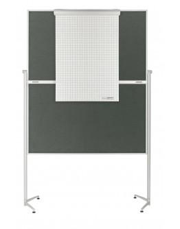 Доска модерационная мобильная складная 1200x1500 Magnetoplan Evolution+ Folding Felt-Gray Mobile (1151301)