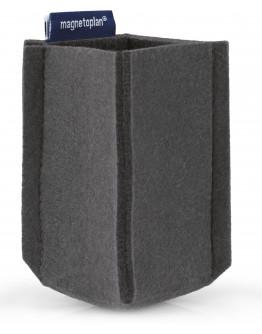 Держатель маркеров магнитный малый из PET-войлока серый Magnetoplan magnetoTray SMALL Gray (1227601)