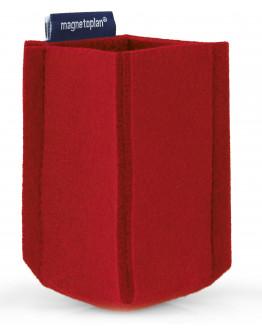 Держатель маркеров магнитный малый из PET-войлока красный Magnetoplan magnetoTray SMALL Red (1227606)