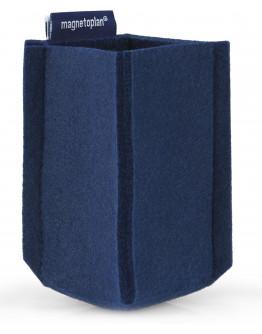Держатель маркеров магнитный малый из PET-войлока синий Magnetoplan magnetoTray SMALL Blue (1227614)