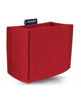 Держатель маркеров магнитный средний из PET-войлока красный Magnetoplan magnetoTray MEDIUM Red (1227706)