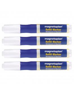 Маркеры универсальные заправляемые Magnetoplan Refillable Marker Blue Set (1228503)