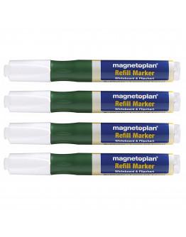 Маркеры универсальные заправляемые Magnetoplan Refillable Marker Green Set (1228505)