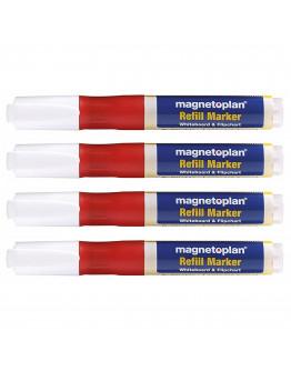 Маркеры универсальные заправляемые Magnetoplan Refillable Marker Red Set (1228506)