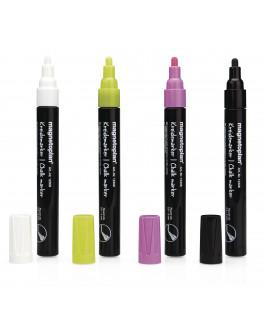 Маркеры меловые разноцветные Magnetoplan Chalk Marker Assorted Set (12308)