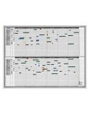 Планировщик годовой активности 31дн/35чел 1215x915 Magnetoplan Staff&Project Planner (1241212S)