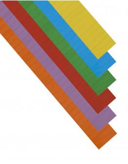 Карточки этикеточные 40x10 разноцветные Magnetoplan Ferrocard Labels Assorted Set (12843)