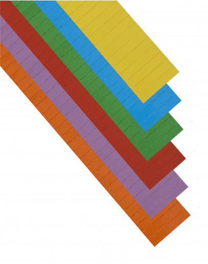 Карточки этикеточные 50x10 разноцветные Magnetoplan Ferrocard Labels Assorted Set (12844)