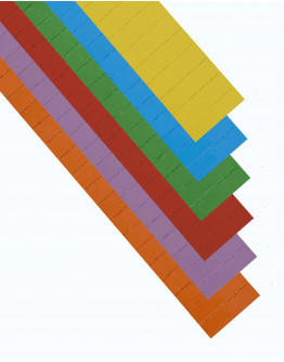 Карточки этикеточные 50x15 разноцветные Magnetoplan Ferrocard Labels Assorted Set (12865)