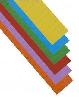 Карточки этикеточные 60x15 разноцветные Magnetoplan Ferrocard Labels Assorted Set (12866)