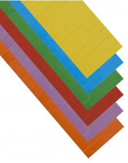 Карточки этикеточные 80x15 разноцветные Magnetoplan Ferrocard Labels Assorted Set (12869)