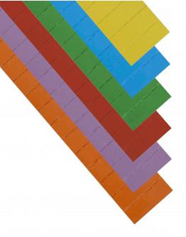 Карточки этикеточные 60x22 разноцветные Magnetoplan Ferrocard Labels Assorted Set (12871)