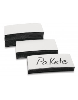 Стикеры магнитные 100x20 белые Magnetoplan Magnetic Labels White Set (1532706)