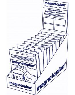 Ленты-самоклейки магнитные 5x19 Magnetoplan Magnetic Adhesive Tapes Set (1551010)