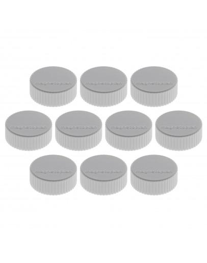 Магниты круглые 34/2 серые Magnetoplan Discofix Magnum Gray Set (1660001)
