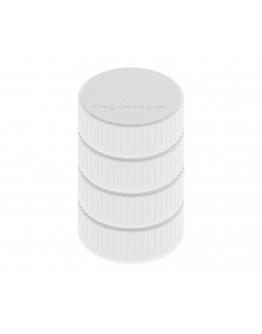 Магниты круглые 34/2 блистер белые Magnetoplan Discofix Magnum White Set (16600400)