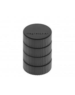 Магниты круглые 34/2 блистер черные Magnetoplan Discofix Magnum Black Set (16600412)