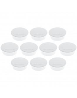 Магниты круглые 40/2.2 белые Magnetoplan Discofix Color White Set (1662000)