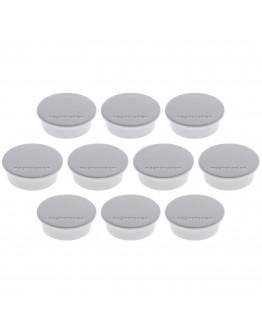 Магниты круглые 40/2.2 серые Magnetoplan Discofix Color Gray Set (1662001)